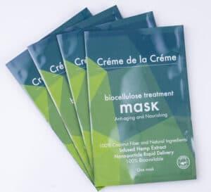 Crème De La Crème Anti-Aging and Nourishing Bio-Cellulose Facial Mask - Single Pouch